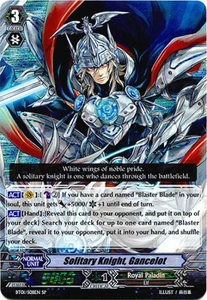 Cardfight Vanguard ENGLISH Descent of the King of Knights Single Card SP Rare BT01-S08 Solitary Knight, Gancelot