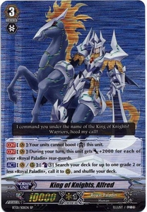 Cardfight Vanguard ENGLISH Descent of the King of Knights Single Card SP Rare BT01-S01EN King of Knights, Alfred