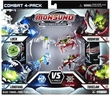 Monsuno Core-Tech vs Eklipse 4-Pack Surge Edition Lock, Longfang, Moonfire & Toxiclaw [ 4 Figure, 4 Core & 4 Card]