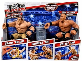 WWE Wrestling Power Slammers Starter 2-Pack John Cena & The Rock [Hand Grabbin']