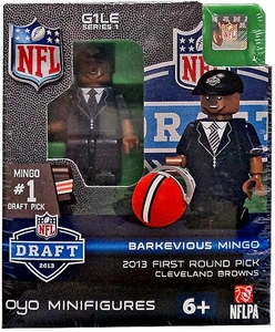 OYO Football NFL Draft First Round Picks Building Brick Minifigure Barkevious Mingo [Cleveland Browns] #6 Draft Pick