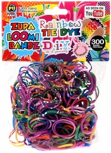 D.I.Y. Do it Yourself Bracelet Zupa Loomi Bandz 300 Rainbow Tie-Dye Rubber Bands with 'S' Clips