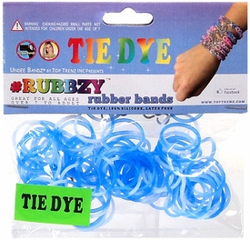 Undee Bandz Rubbzy 100 Blue & White Tie-Dye Rubber Bands with Clips [H]