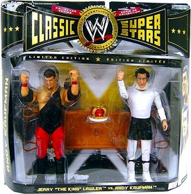 WWE Wrestling Classic Superstars Exclusive Series 8 Action Figure 2-Pack Andy Kaufmann & Jerry Lawler