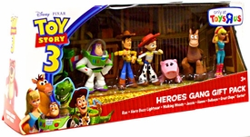 Disney / Pixar Toy Story 3 Exclusive Mini FigureBuddy 7-Pack Heroes Gang Gift Pack [Rex, Hero Buzz, Woody, Jessie, Hamm, Bullseye & Barbie]