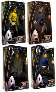 Star Trek Movie Playmates Set of 4 Deluxe 12 Inch Action Figures [Spock, Kirk, McCoy & Prime Spock]