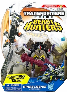 Transformers Prime Beast Hunters Deluxe Action Figure Starscream [Clenching Thunder Talon!] BLOWOUT SALE!