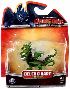 Dragons Defenders of Berk 3 Inch Mini Figure Belch & Barf [Green Zippleback]