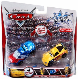 Disney / Pixar CARS Stunt Racers Exclusive 2-Pack Raoul CaRoule & Jeff Gorvette