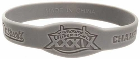 Official NFL Super Bowl XXXIX New England Patriots Championship [Gray] Rubber Bracelet