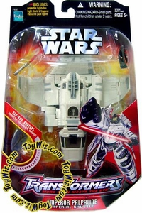 Star Wars Saga '06 Transformers Action Figure Emperor to Shuttle Tyderium