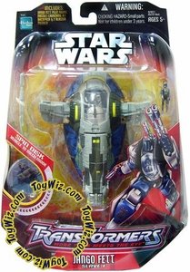 Star Wars Saga '06 Transformers Action Figure Jango Fett to Slave 1