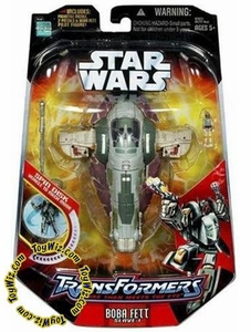 Star Wars Saga '06 Transformers Action Figure Boba Fett to Slave I