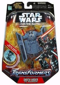 Star Wars Saga '06 Transformers Action Figure Darth Vader to TIE Advanced