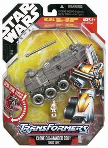 Star Wars 30th Anniversary Saga 2007 Transformers Action Figure Commander Cody to Turbo Tank