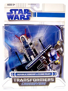 Star Wars Clone Wars 2008 Transformers Crossovers Republic Gunship to Clone Pilot [Original Animated]