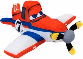 Disney PLANES 6 Inch Plush with Sound Dusty [Racing Colors]