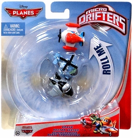 Disney PLANES Micro Drifters 3-Pack Bravo, Hector Vector & Supercharged Dusty Crophopper
