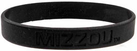 Official NCAA College School Rubber Bracelet MISSOURI Tigers [Black]