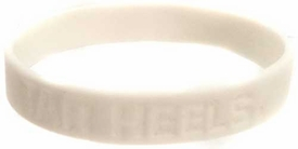Official NCAA College School Rubber Bracelet NORTH CAROLINA Tar Heels [White]