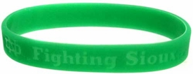Official NCAA College School Rubber Bracelet NORTH DAKOTA [Green]
