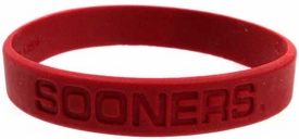 Official NCAA College School Rubber Bracelet OKLAHOMA Sooners [Red]
