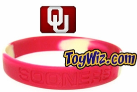 Official NCAA College School Rubber Bracelet OKLAHOMA Sooners Marble Color
