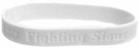 Official NCAA College School Rubber Bracelet NORTH DAKOTA [White]