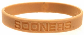 Official NCAA College School Rubber Bracelet OKLAHOMA Sooners [Tan]