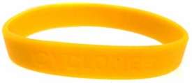 Official NCAA College School Rubber Bracelet IOWA STATE Cyclones [Yellow]