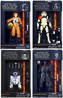 Star Wars Black 6 Inch Series 1 Set of 4 Action Figures [Luke Skywalker, Sandtrooper, R2-D2 & Darth Maul]