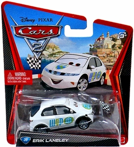 Disney / Pixar CARS 2 Movie 1:55 Die Cast Car #39 Erik Laneley [WGP Starter]