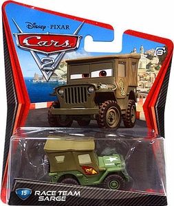Disney / Pixar CARS 2 Movie 1:55 Die Cast Car #15 Race Team Sarge