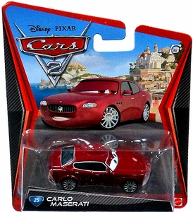 Disney / Pixar CARS 2 Movie 1:55 Die Cast Car #25 Carlo Maserati Hot!