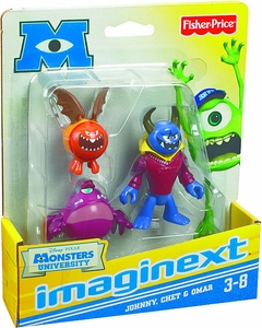 Disney / Pixar Monsters University Imaginext Mini Figure 3-Pack Johnny, Chet & Omar