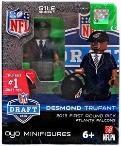 OYO Football NFL Draft First Round Picks Building Brick Minifigure Desmond Trufant [Atlanta Falcons] #22 Draft Pick