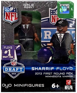 OYO Football NFL Draft First Round Picks Building Brick Minifigure Sharrif Floyd [Minnesota Vikings] #23 Draft Pick
