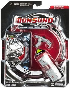 Monsuno Core-Tech Single Pack #25 Shadow Edition Lock [ 1 Figure, 1 Core & 1 Card]