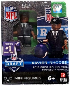OYO Football NFL Draft First Round Picks Building Brick Minifigure Xavier Rhodes [Minnesota Vikings] #25 Draft Pick