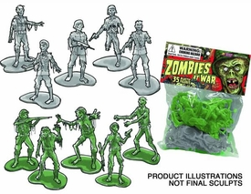 Previews Exclusive Figure 35-Count Bag Zombies At War  Pre-Order ships April