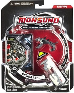 Monsuno Eklipse Single Pack #26 Shadow Edition Backslash [1 Figure, 1 Core & 1 Card]