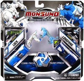Monsuno Core-Tech Team Pack Elemental Edition #31 Lock & #32 Longfang  [ 2 Figure, 2 Core & 2 Card]