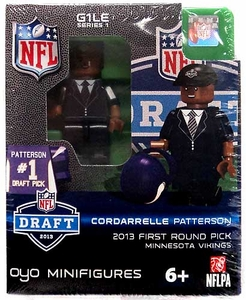 OYO Football NFL Draft First Round Picks Building Brick Minifigure Cordarrelle Patterson [Minnesota Vikings] #29 Draft Pick