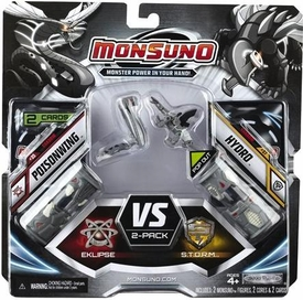 Monsuno Eklipse vs S.T.O.R.M. 2-Pack Shadow Edition #35 Poisonwing & #37 Hydro [ 2 Figure, 2 Core & 2 Card]