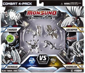 Monsuno Core-Tech vs S.T.O.R.M. 4-Pack Shadow Edition Charger, Arachnablade, Airchopper & Venomeleon [ 4 Figure, 4 Core & 4 Card]