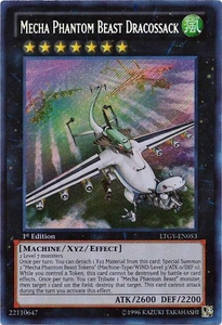 YuGiOh Zexal Lord of the Tachyon Galaxy Single Card Secret Rare LTGY-EN053 Mecha Phantom Beast Dracossack