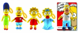 Simpsons Set of 5 Plush Backpack Clips [Marge, Bart, Lisa, Maggie & Homer] Pre-Order ships March