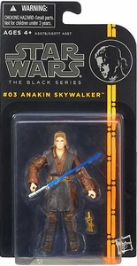 Star Wars Black 3.75 Inch Series 1 Action Figure Anakin Skywalker [Episode II]