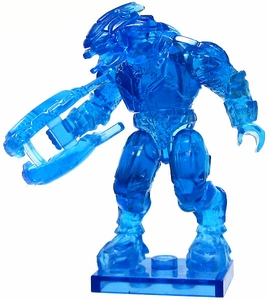 Halo Wars Mega Bloks LOOSE Mini Figure Covenant Trans Blue Elite with Energy Rifle