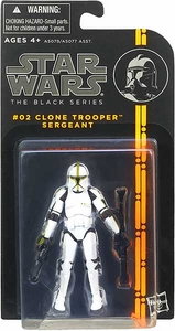 Star Wars Black 3.75 Inch Series 1 Action Figure Clone Trooper Sergeant [Episode II]
